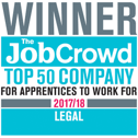 Winner The Job crowd top 50 company